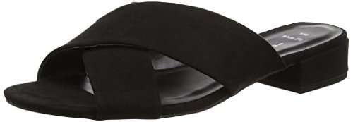 New Look WoMen Wide Foot Holanda Open-Toe Sandals Black (Black)