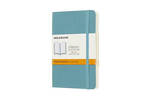 Softcover Pocket Moleskine (Moleskine Classic Notebook, Pocket, Ruled, Blue Reef, Soft Cover (3.5 x 5.5))