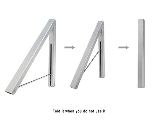Aluminium Alloy Clothes Hanging System Free-Screw and Screwed Two-Way Installation Clothes Hanger by a (Image #5)