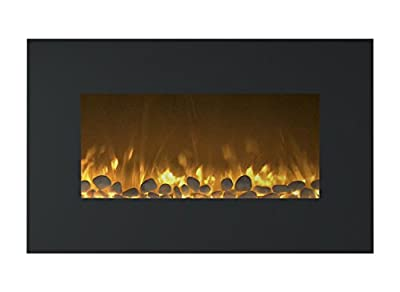 Northwest Electric Fireplace Wall Mounted LED Fire and Ice Flame