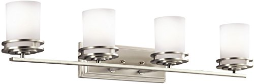 Kichler 5079NI Bath 4-Light, Brushed Nickel