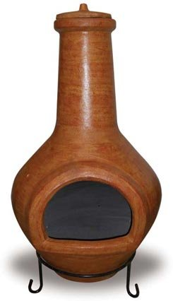 Fired Up Designs 46-Inch Classic Clay Chiminea a great Mexican Clay Chiminea
