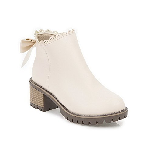 Slip Womens ABL10256 Casual Toe Pointed BalaMasa Boots Resistant Beige Urethane TaIAqccWn