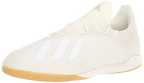 adidas Men's X Tango 18.3 Indoor Soccer Shoe, White/Gold Metallic, 7.5 M US