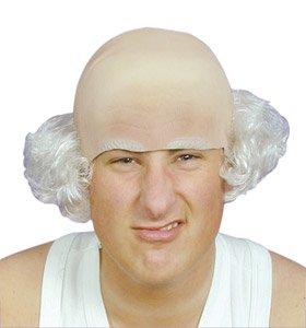 Bald Head Brown Hair Eyebrows Fancy Dress Baldy Heads Wigs for ... 247b5cde8b64