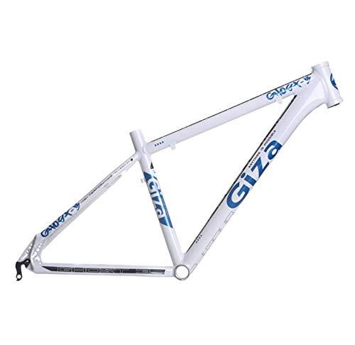 lundeng Giza Ghost 3 Mountain Bike All Aluminum Alloy Ultra Light Frame (White Blue, 21'')