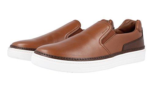 Prada Mens 4d2867 Atd F0cu2 Läder Sneaker