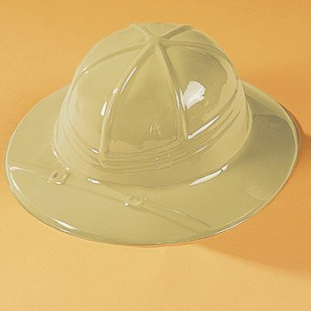 Fun Express Kids Classic Beige Pith Helmet Jungle Safari Birthday Party-Set of 12