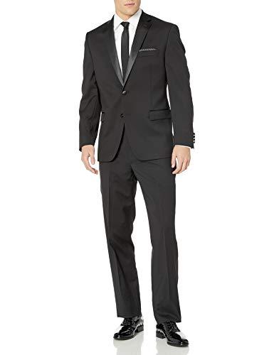 Calvin Klein Men's Modern Fit 100% Wool Tuxedo, Black, 38 Short