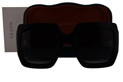 Gucci GG0053S Sunglasses Shiny Black w/Dark Gray Gradient Lens 001 GG - Www Gucci