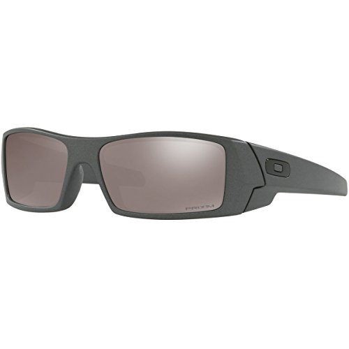 Oakley Men's Gascan Polarized Rectangular Sunglasses, Steel /Prizm Black, 60mm (Oakley Polarized Prizm Black)
