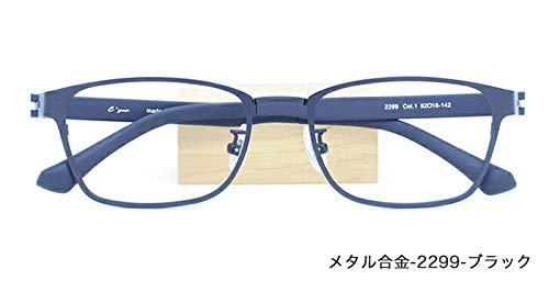 ザ サプリメガネ PCメガネ ブルーライト94% カット 紫外線ほぼ100%カット 度なし(調節補助機能付き) (ブラック) メタル合金-2299  ブラック B07HXS4CRX