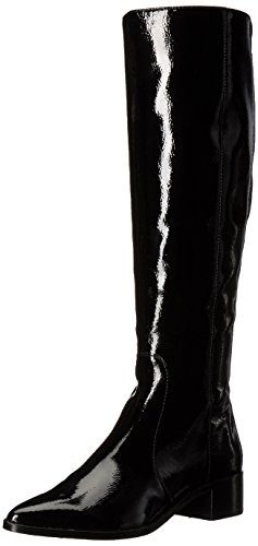 Dolce Vita Women's Morey Fashion Boot, Onyx Patent Stella, 8 Medium (Patent Tall Boots)