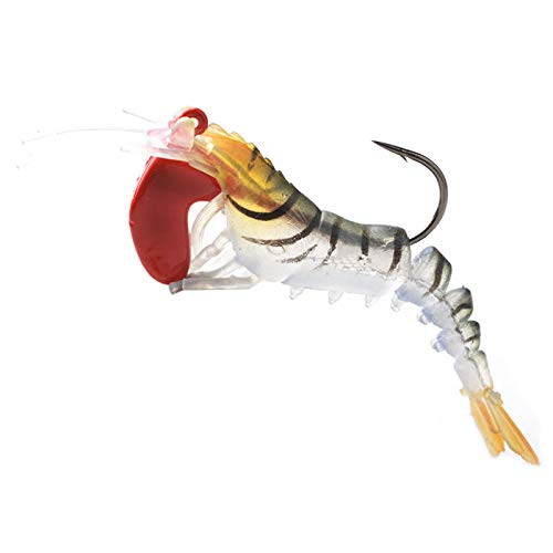 TOOGOO 1Pcs Soft Shrimp Fishing Lures Artificial Shrimp Baits 7g/5cm Soft Lure Bionic Bait with Lead Weight and Hook