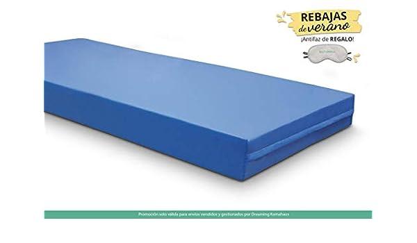 KAMA HAUS Colchón Geriátrico | 5cm Viscoelástica | Funda Sanitaria | 105 x 180 cm. | Altura: ±15cm
