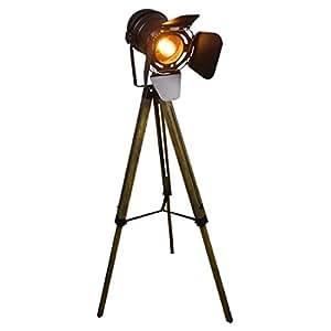 Amazon.com: LHQING Industrial Black Tripod Floor lamp ...