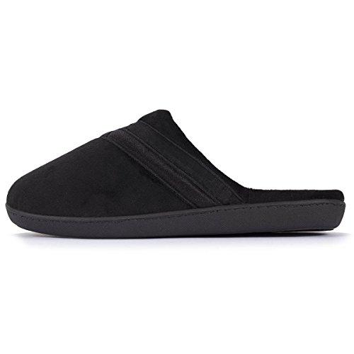 Zapatillas chinelas para mujer Isotoner Negro