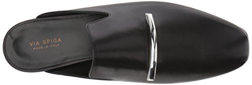 Via Spiga Women's Tara Mule Black Leather HBKOPK