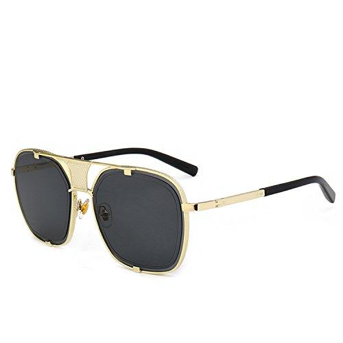 Designed for Claw Sunglasses Men's Metal Retro Sunglasses 2190,C1 gold frame gray ()