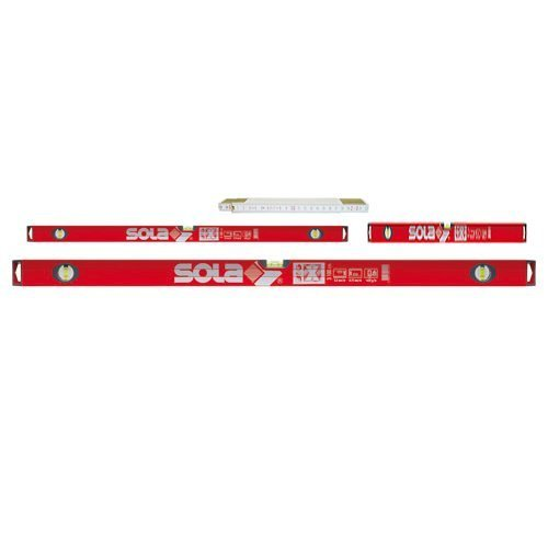 Sola BigX Set - Alu-Wasserwaage BigX 60 - BigX3 100 - BigX3 180 - Meterstab