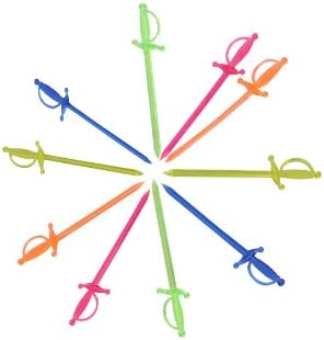 IMS Party 300817 Picker Schwert, 70 mm, 300 Stück, sortierte transparent Farben