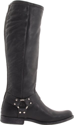 Frye Mujeres Phillip Harness Tall Bota Negro Suave Vintage Leather-76850