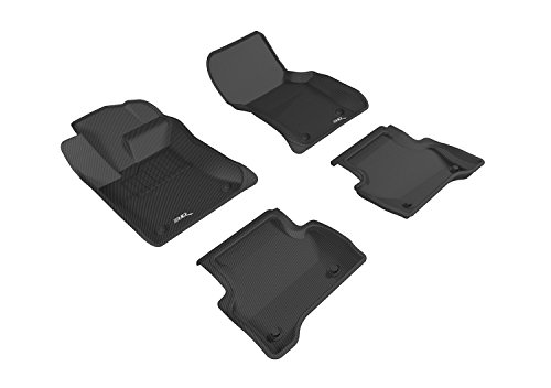 3D MAXpider Complete Set Custom Fit All-Weather Floor Mat for Select Jaguar XE Models - Kagu Rubber (Black) by 3D MAXpider