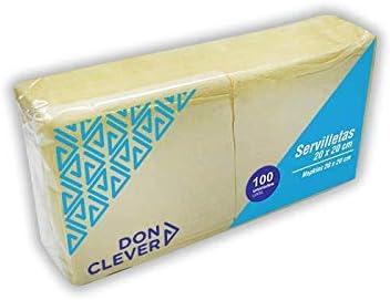 DON CLEVER SERVILLETA 20X20 Crema/Caja ECONOMICA 32 Paquetes / 2 ...