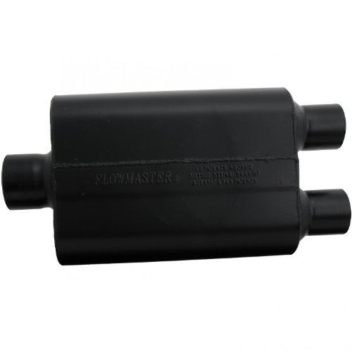 Flowmaster Super 44 Delta Flow Muffler (Flowmaster 9430452 Super 44 Muffler - 3.00 Center IN / 2.50 Dual OUT - Aggressive Sound)