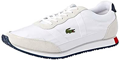Lacoste Women's Partner 119 4 Fashion Shoes, WHT/NVY/RED, 10 US