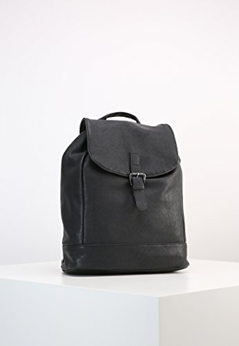 Rucksack Rucksack Purse Travel Leather Ladies Daypack Faux Work Anna with Backpack amp; Handbag Field Closure Black amp; Handle School for Drawstring xn6qwnOY