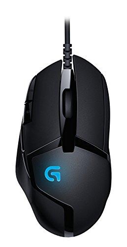 Gaming-Maus von Logitech von oben mit Logo sichtbar
