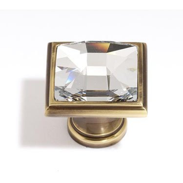Alno C212-PN Traditional Crystal Knobs, 1-1/4