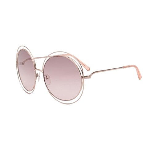 chloe-womens-carlina-round-gold-transparent-peach-sunglasses