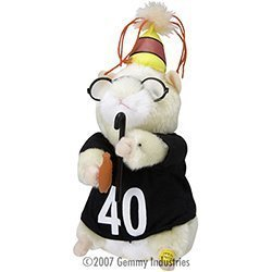 Happy Hamster - 40th Happy Birthday Hamster Over the Hill