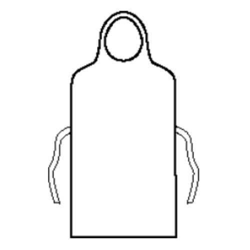 Halyard Health 69350 General Purpose Apron, Plastic Film Fabric, Universal, White (Pack of 5)