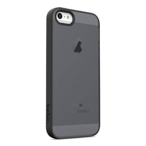 Belkin Grip Candy Sheer Case for iPhone 5 and 5S (Gravel and Black)