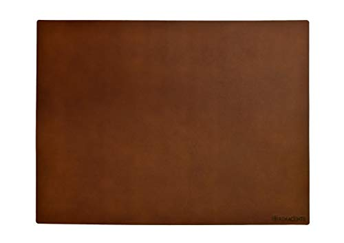 (RENACIENTE Genuine Leather Desk Writing Mat (24x16 in.) Natural Vegetable Tan, Top Grain Leather, Smooth Natural Surface. Made in Ecuador (Hazelnut)