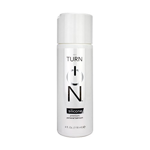 Turn On Personal Silicone Based Lubricant, 4 Ounce Bottle for Smooth Skin, Easy Clean-Up, and No Sticky Mess