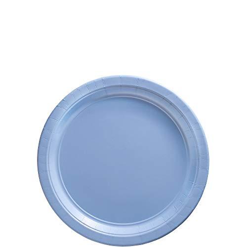 Amscan Pastel Blue Paper Dessert Plate Big Party Pack, 50 Ct. ()