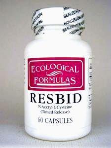 Cheap Ecological Formulas – Resbid N-Ace-L-Cys (Timed Rel) 60 caps