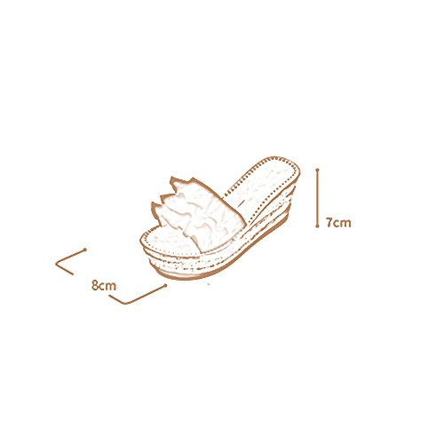 con Sandalias 2 Verano Grueso de de New Impermeable Zapatillas Palabra 3 Ropa Loose Color Tamaño UK3 Cakes LHA Mujer Moda Arrastrar Slope Plataforma Sandalias Fondo CN34 EU35 Wild xHRXOX