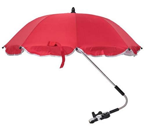 Silfrae Baby Stroller Umbrella UV Rays Umbrella Rainproof Parasol (Red)