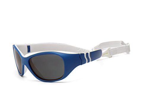 Real Shades - Caribbean Blue/White Double Injection Flex Fit Removable Band with PC Smoke Lens - Sun Caribbean Eyewear