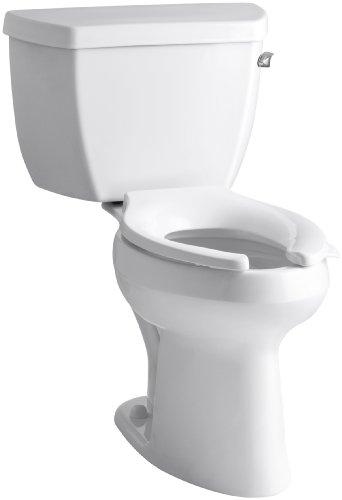 Kohler K-3519-RA-0 Highline Classic Comfort Height Elongated 1.0 gpf Toilet with Right-Hand Trip Lever, Less Seat, White ()