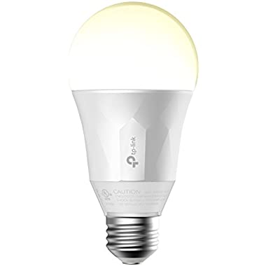 TP-Link Smart LED Light Bulb, Wi-Fi, Dimmable White, 50W Equivalent, Works w/ Amazon Alexa & Google Assistant, 1-Pack (LB100)