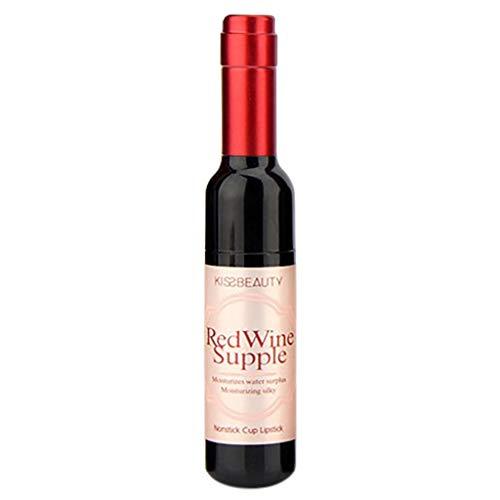 Lip Gloss Matte Hosamtel Liquid Lipstick Waterproof Durable Red Wine Bottle Long Lasting Non-Stick Cup Lip Glaze Lip Makeup