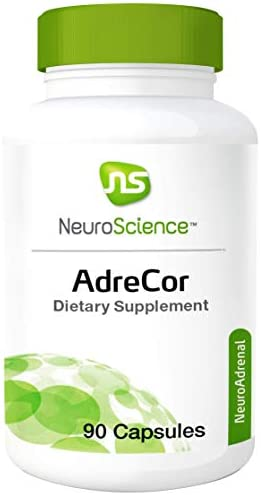 NeuroScience AdreCor – Adrenal Energy Support Complex with Rhodiola and Histidine to Help Reduce Fatigue and Stress 90 Capsules