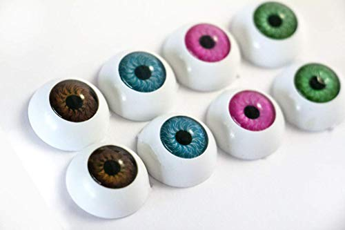 JustNile Pack of 8 Scary Plastic Eyeballs, Halloween Party Decoration Horror Props -