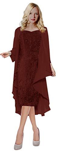 VaniaDress Women Two Piece Mother of the Bride Dress Prom Gown V107LF Dark Burgundy US20W from VaniaDress